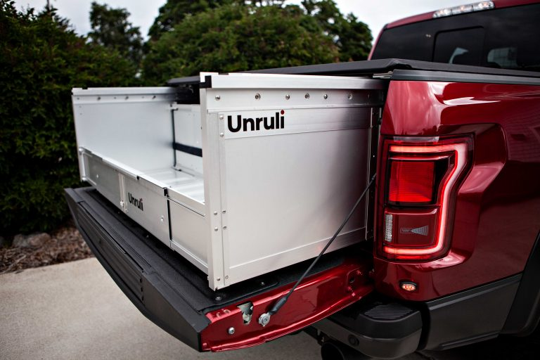 pickup truck tonneau cover and foldable cargo box