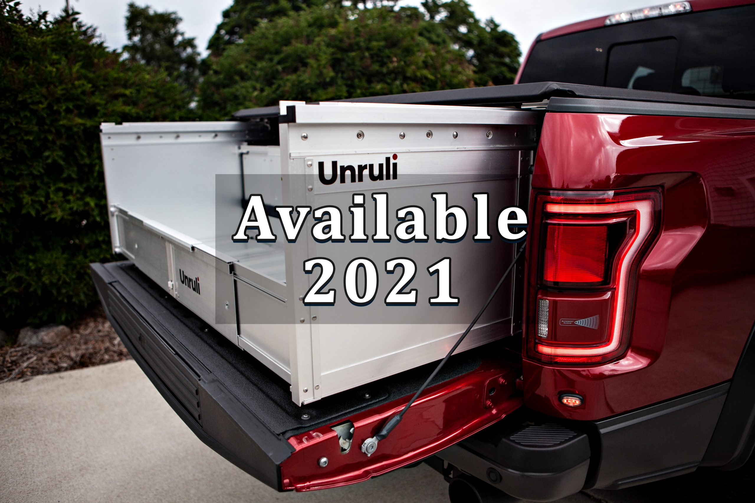 Ford tonneau cover and cargo box