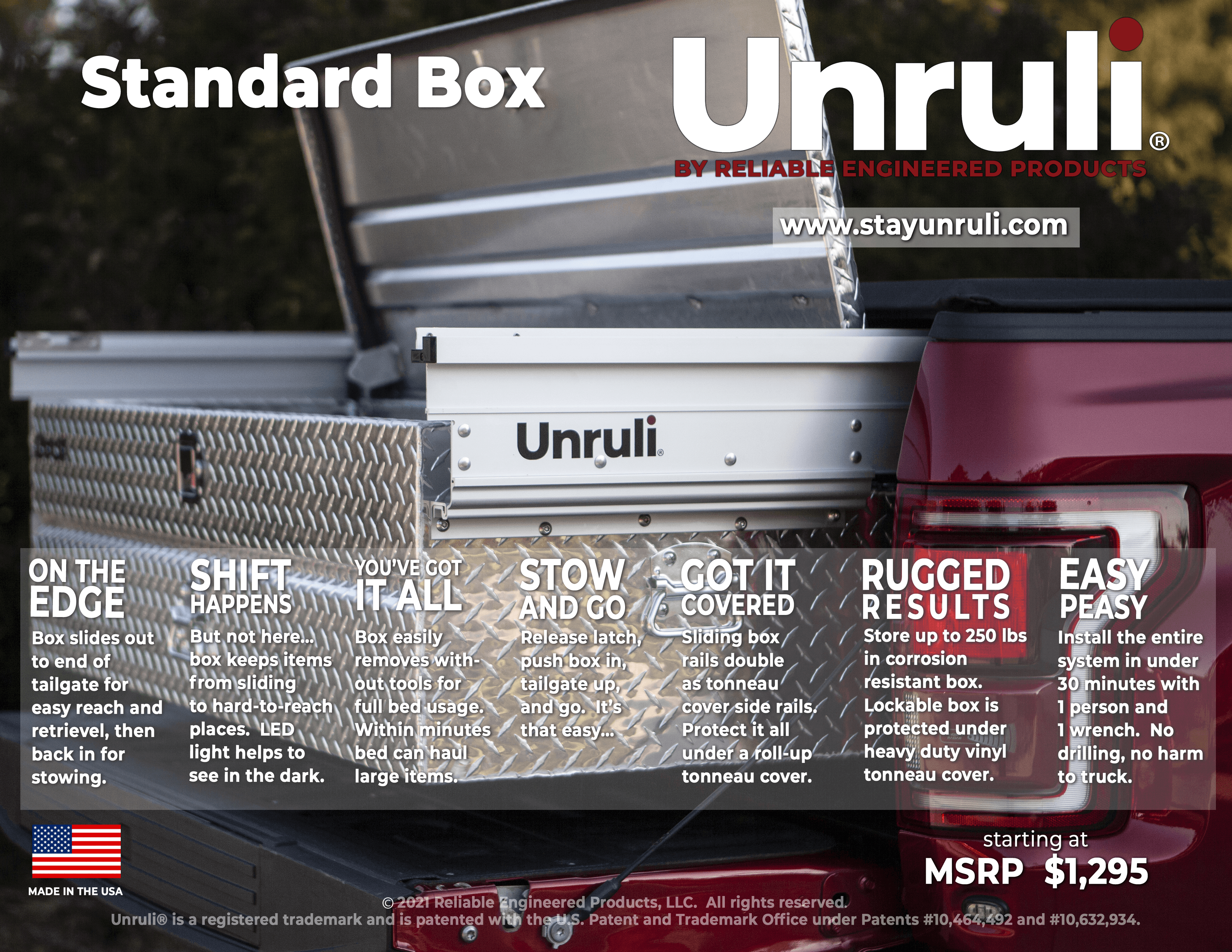 Unruli Standard Box features
